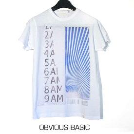 OBVIOUS BASIC オビオスベーシック メンズ 半袖Tシャツ 綿100% 肌触り◎ ラウンドネック 白 半そで T-shirt イタリア製 S M L XL XXLサイズ OB160-5793