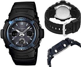 ポイント2倍 送料込 CASIO カシオ G-SHOCK Gショック 電波 ソーラー AWG-M100A-1A アナデジ 腕時計 スタンダードモデル ブラック×ブルー メンズ腕時計 メンズウォッチ 並行輸入品