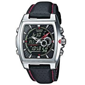 送料込 カシオ 腕時計 エディフィス CASIO EDIFICE EFA-120L-1A1VEF アナデジ 多機能 ブラック(レッド シルバー)新生活応援 10気圧防水 メンズ腕時計 メンズウォッチ クォーツ 逆輸入