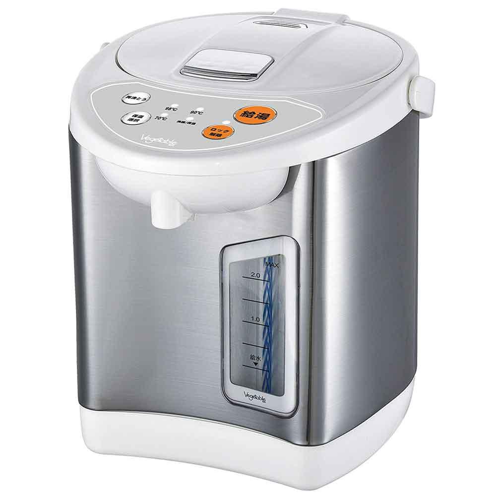 ベジタブル Vegetable 電動給湯ポット 2.2L GD-UP220 電動ポット 電気ポット 温度保温設定機能 ワイド水位※Amazon倉庫からの発送となる場合がございます。