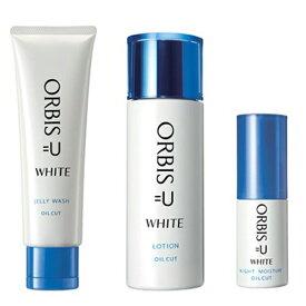 送料込 ORBIS オルビスユー ホワイトジェリーウォッシュ 120g + ホワイトローション ボトル入り 180ml + ホワイト ナイトモイスチャー ボトル入り 30ml 洗顔料 化粧水 保湿液
