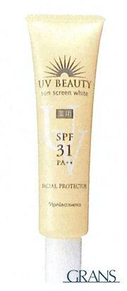 ナリス化粧品 UV ユーブイ・ビューティ サンスクリーンホワイト 40g 【薬用美白 日焼け止め乳液】