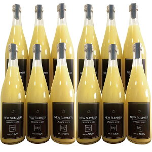 愛媛産 高級 オレンジジュース 100% 送料無料(一部地域除く) ニューサマーオレンジ 丸搾り ストレート(720ml×12本) みかんジュース ギフトセット Grand Village