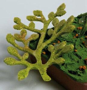 シリコン製すり込み型 飾りDECO型 Bonsai 海ブドウ 萩 豆の木【GG030】8cm(8取)PAVONIパボーニ社製