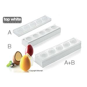 立体 3D 超柔軟シリコンケーキ型 egg paques タマゴ型 たまご型 玉子型 7.3cm プティガトー silikomart シリコマート muld3d2-50