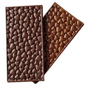 チョコレート型 板チョコ15.5cm Love Heart BAR ハート シリコン製 1枚取 シリコマートsilikomartオーブン冷凍兼用scg38