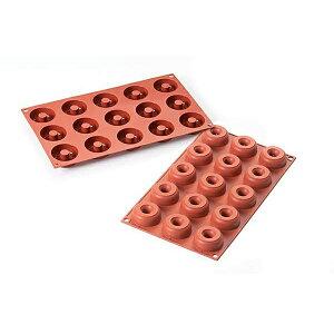 シリコン製 ドーナツ型 MINI DONUTS ミニドーナツ型 サバラン型 15個取 シリコマート silikomart sf171