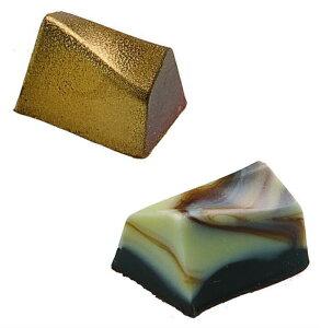 チョコレート型martellato【MA1903 変形 四角形】ポリカーボネイト製(ハードプラスチック) ボンボンショコラ型抜きチョコレート型イタリア マルテラート社製