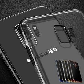 Galaxy S10 ケース S10+ S10plus S9 S9+ S8 S8+ クリア 透明 メタリック ギャラクシー ソフトケース TPU シンプル スマホケース スマホカバー カバー スマートフォンケース galaxys9 スマホ galaxys8 galaxys10 アンドロイド Android