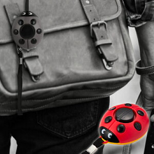 防犯ブザー 大音量120dB てんとう虫 LED 照明付 防犯ブザー 電池付属 かわいい 防犯ブザー 危険察知 鳴動 通知 防犯用品