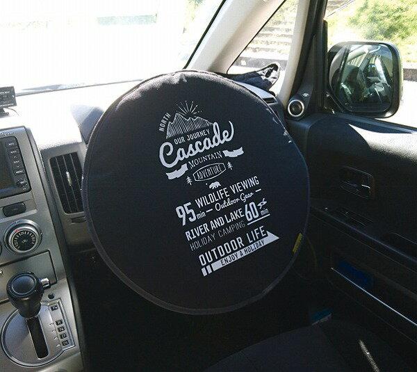 【DECOLE/デコレ】ハンドル日よけカバー ブラック デイム OUTDOOR LIFE アオトドアライフ かわいい デニム ハンドルカバー 軽自動車 コンパクトカー 小型車 カワイイ おしゃれ カー用品 日除け 日よけ