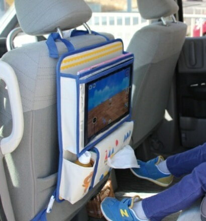 【 DECOLE / デコレ 】 aurinko アウリンコ タブレットポケット付き ドライブポケット くま うさぎ おしゃれ かわいい 車内の収納 おでかけポケット タブレット 小物入れ お出かけグッズの整理