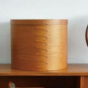 シェーカー ラウンドボックス L アクシス Homestead ホームステッド HS2972 木箱 アンティーク風 裁縫箱1段 裁縫箱 ソーイングボックス