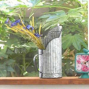 ガーデンピッチャー 鉢カバー ガーデンポット シルバー CA-1047 鉢カバー ブリキポット 鉢 ブリキ鉢 植木鉢 ブリキ プランター ガーデニング雑貨 アンティーク 鉢カバー おしゃれ かわいい