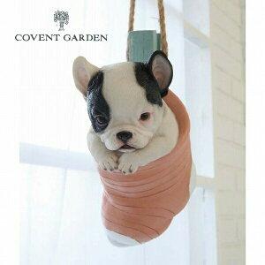 ソックス・パピー アンティーク調 ブルドッグ 犬 いぬ イヌ dog ドッグ ドック 動物 コベントガーデン COVENT GARDEN TS-35 ガーデンマスコット ガーデニング 置き物 オブジェ オーナメント 動物