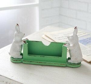 イーチラビット・カードスタンド アンティーク 【COVENT GARDEN コベントガーデン】 うさぎ ウサギ ラビット rabbit 兎