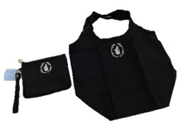 ウエッジウッド WEDGWOOD (ジャスパー) MUSEモチーフ&ロゴ エコバッグ ケース付き (ブラック)