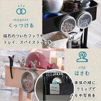 丈夫なアイアン素材のキャスター付き3段キッチンワゴン【PORTE-ポルテ-】【OG】