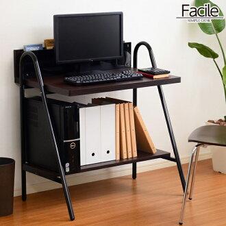 finest selection 63742 5379f Computer desk wood topped glass storage shelves rack PC PC desk metal desk  alone Facile father alone Grande desk table office computer desk white ...