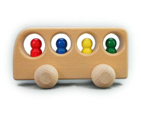 最大2000円オフクーポン発行中!ケラー社 4人のりバス白木 keller 木のおもちゃ 車 木製 玩具 出産祝い
