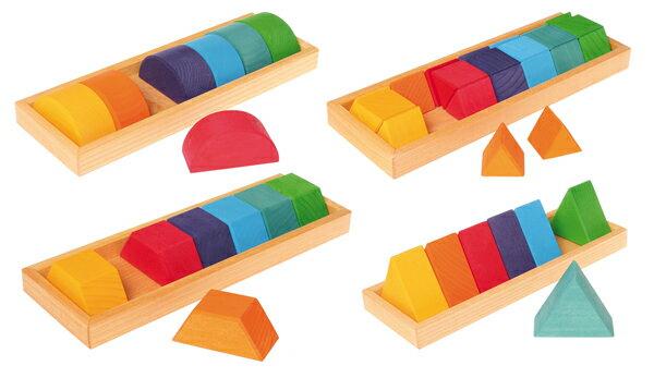 グリムス GRIMM'S GM色と形つみき(4種) 積木 知育玩具 誕生日 2歳 3歳 4歳