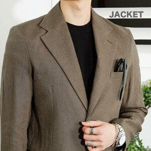 3color テーラードジャケット、リネンジャケット メンズ 綿麻 ジャケット サマージャケット 春 夏 新作 カジュアルジャケット 春夏 無地 ビジネスアウター