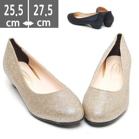 大きいサイズ レディース靴、大きいサイズ レディースシューズ, フラット キルティング(25.0〜27.5cm)ゴールドブラック 黒【フラットシューズ・サンダル・パンプス・とんがり・くつ・靴・大きいサイズ 25.0 25.5 26.0 26.5 27.0cm 27.5cm】