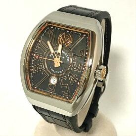 フランクミューラー FRANCKMULLER ヴァンガード 日本限定300本 黒文字盤 メンズ V45SCDTST 腕時計 自動巻 SS×PGメーカー内部点検&仕上げ済み正規品【中古】Aランク 極美品