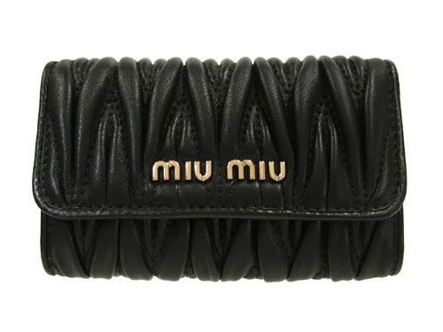 ミュウミュウ MIU MIUキーケース マテラッセ 5PG222 Matelasse' NERO ブラック【新作モデル・新品・正規品】【ミュウ・ミュウ】【ミウミウ】【MIUMIU】【送料無料】【楽ギフ_包装】【コンビニ受取対応商品】