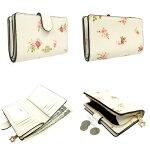 コーチCOACH財布長財布フローラルプリント二つ折り財布F29928