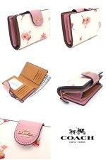 コーチCOACH財布長財布フローラルプリント花柄二つ折り財布