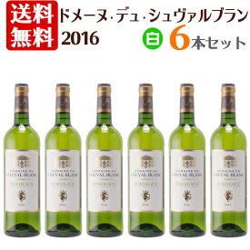 【送料無料】ドメーヌ デュ シュヴァルブラン 2016 白ワイン 6本セット