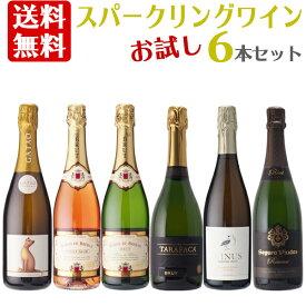 【クール便付送料無料】お試し スパークリングワイン 6本セット