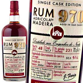 ラム酒 ファリア・イ・フィロス マディラ ラム 970シングルカスク 2006 52% 700ml