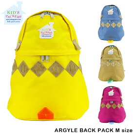 KIDS PACKERS キッズパッカーズ FREDRIK PACKERS リュックサック デイパック パパ ママ リンクコーデ プレゼント ギフト ARGYLE BACK PACK M キッズ 子供 日本製 ブラック 黒 レディース メンズ 【gwtravel_d19】
