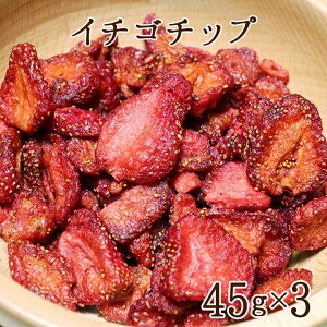フルーツチップス いちご いちごチップ 45g×3袋[区分A]kp