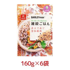 はくばく バーリーマックス入り雑穀ごはん 160g 6袋 1ケース<黒米・もちあわ・もちきび> 【区分A】 hs [まとめ買い]