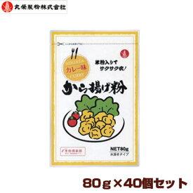 丸榮製粉 新潟発 カレー味から揚げ粉 80g×40個セット【区分C】 hs