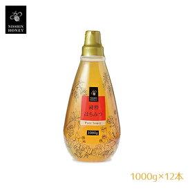 日新蜂蜜 純粋はちみつ 1000g×12本セット【区分C】 hs 夜はちみつでダイエット♪美肌・整腸にも 風邪予防