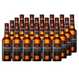 ビール スペインビール mahou マオウ・ドゥンケル 330ml 24本セット スペイン 黒ビール