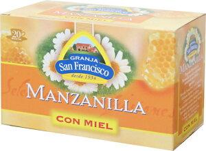 はちみつカモミールティー ノンカフェイン ティーバッグ カモミール ハーブティー はちみつ ハチミツ 蜂蜜 手土産 ギフト スペイン直輸入