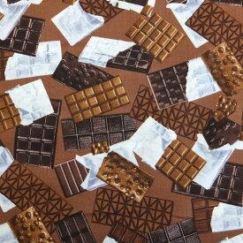 【メール便OK】【50cm以上10cm単位】【USAコットン 生地 布】Unwrapped Brown