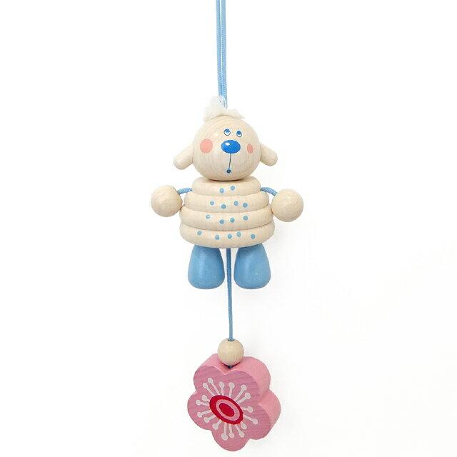 【ハバ バギートーイ 木のおもちゃ お空のひつじ】木製 ドイツ製 HABA ストラップ ベビーカー ヒツジ出産祝い 0歳 乳児■あす楽