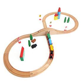 brio 互換【マキシム 木製レールセット 8の字 37P】ブリオ互換 4歳 5歳 木の 木製レール 汽車 電車入園 お祝い