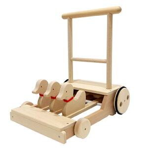 【コイデ 木の 日本製 あひる カタカタ 手押し車】0歳 1歳 男 女 KOIDE 国産 歩行器 幼児用 アヒル 木製玩具 出産祝い ハーフバースデー