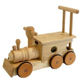 【コイデ 日本製 汽笛音の鳴る 木の乗り物 汽車ポッポ 白木】1歳 男 女 木の 汽車 電車 天然木 乗用 のりものKOIDE出産祝い ギフト 節句