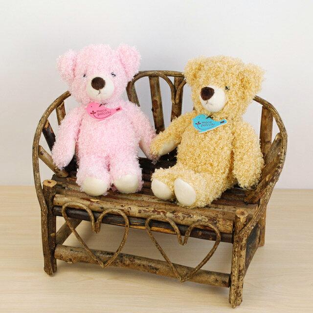 【ぬいぐるみ クマのシャーリー】くま プレゼント ペア おそろい ブラウン ピンク■あす楽