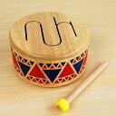 【プラントイ 木のおもちゃ 太鼓 ソリッドドラム】木製 音育 子供用 幼児 リズム感 PLANTOYS■あす楽