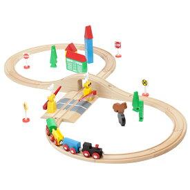brio 互換【マキシム 木製レールセット 8の字+音踏切の人気セット】 4歳 5歳 木の 男 女 木製レール 汽車 電車 木製玩具 入園 知育