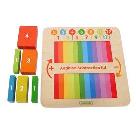 【マスターキッズ はじめてのたしざんひきざん】2歳 3歳 4歳 誕生日プレゼント 男 女 おもちゃ 木のおもちゃ 知育 木製 知育玩具 誕生日 プレゼント 数字 計算 パズル 形合せ 型合わせ■あす楽